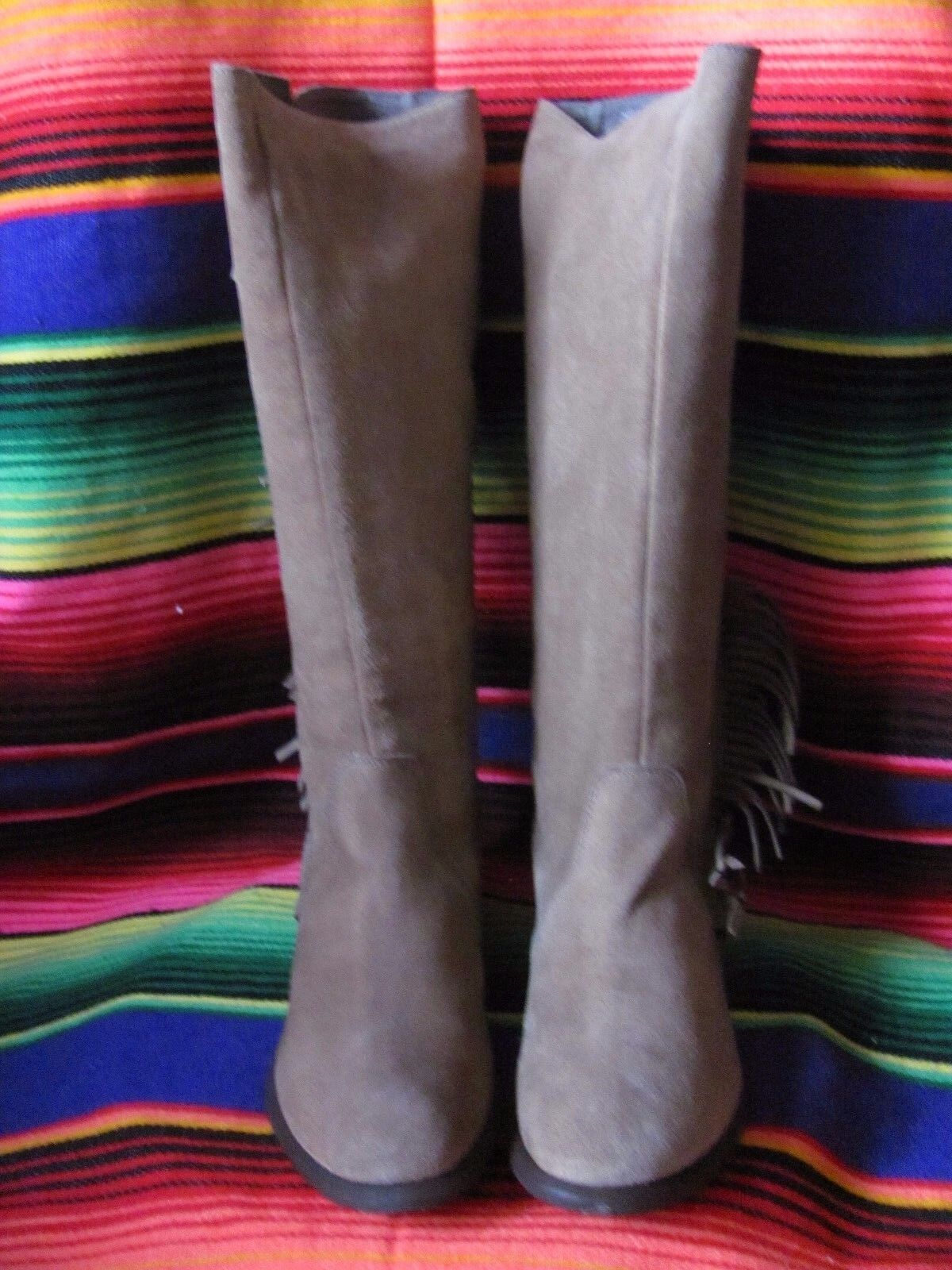 Roper Ladies Genuine Leather  Fringed Boots Brand New in box Size 6.5M Only 1 Av