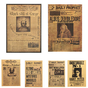 Harry-Potter-Poster-Wall-Kraft-Paper-Movie-Daily-Prophet-Decoration-42X30cm