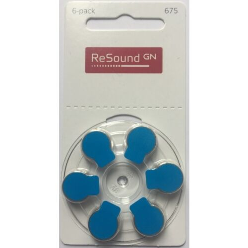 Resound-Size-675-Hearing-Aid-Batteries-Blue-Tab-Various-Pack-Size