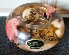 Glass Candle Holder with Roses In &Label-Dreamlight-HAND MADE GERMANY-TRAUMLICHT