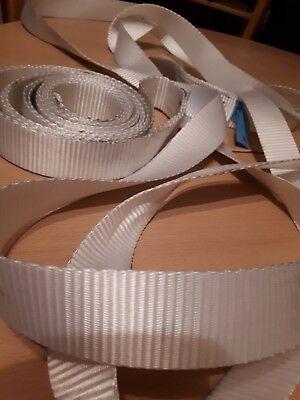 4 x YALE Rundschlinge 750 Kg 0,82 m Polyester weiß Hebeband Hebegurte Hebebänder