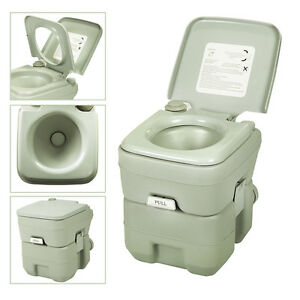 5-Gallon-20L-Portable-Toilet-Flush-Travel-Camping-Commode-Potty-Outdoor-Indoor