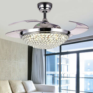 42-034-Ceiling-Fan-Light-Remote-Control-Crystal-LED-Ceiling-Lamp-Dimmable-Bedroom