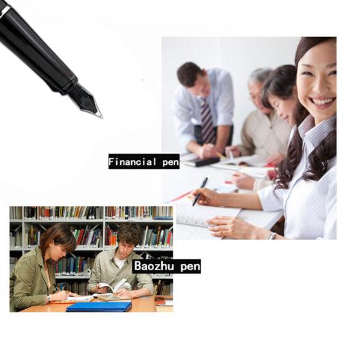 Jinhao 599-A Medium Nib Fountain Pen Stift Silber Trim Schwarz Farbe w//