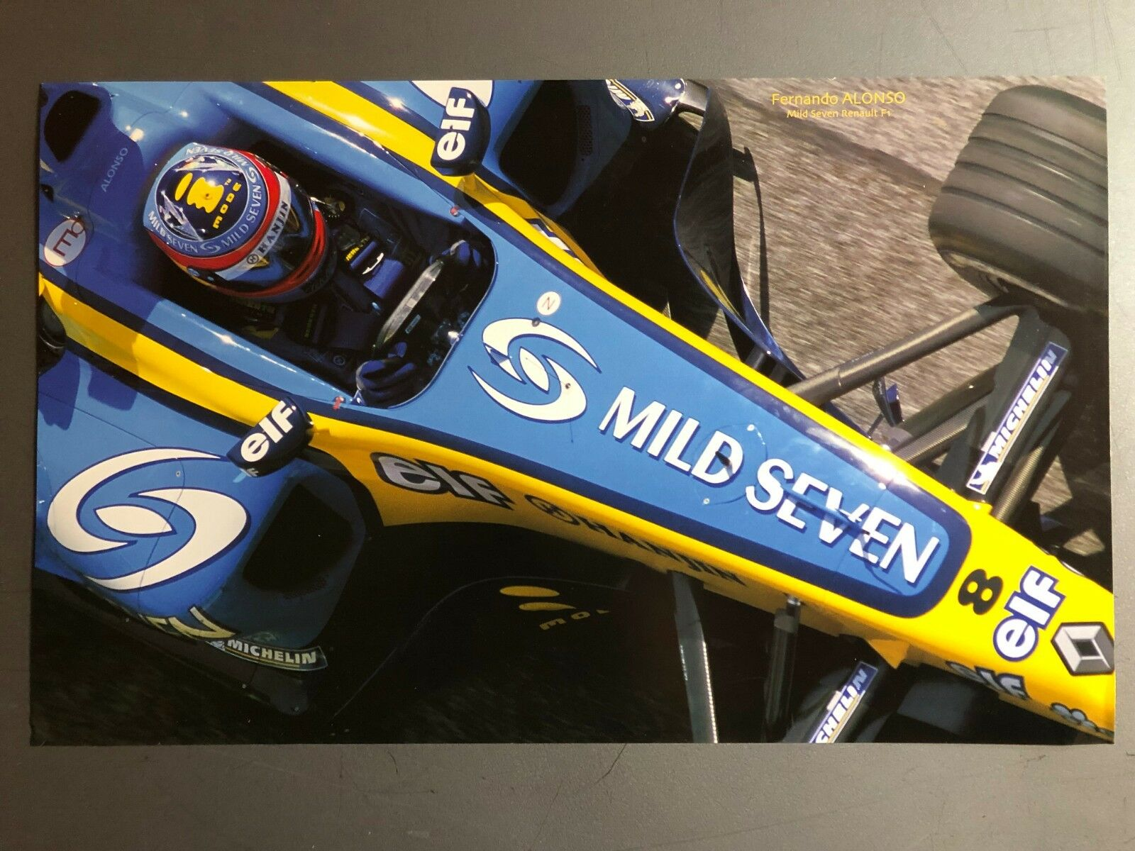 Awesome L@@K 1985 elf Renault John Player F1 Race Car Picture Poster RARE!