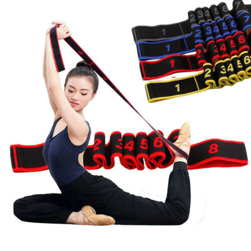 Multi-stage Yoga Stretching Elastic Belt Yoga Pilates GYM Resistance Bands HZ
