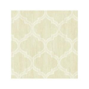 Wallpaper-Designer-Cream-and-Eggshell-White-Ikat-Trellis-Lattice