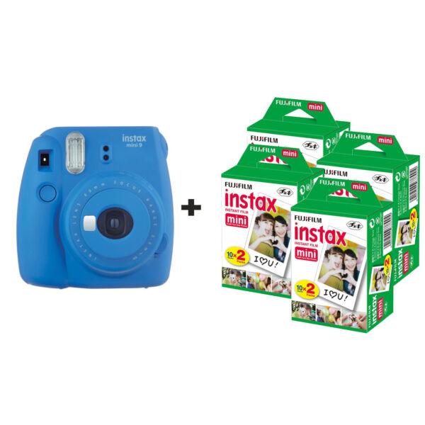 Actif Fujifilm Instax Mini 9 Instant Camera Avec 80 Coups-bleu Cobalt Ture 100% Garantie