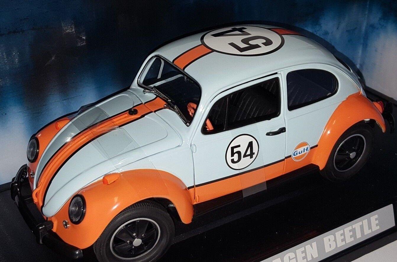 1 18 vertlight Volkswagen Beetle Gulf Oil Racer  54 Bleu & Orange