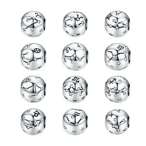 BAMOER-S925-Sterling-Silver-Charm-Bead-constellation-amp-CZ-Fit-European-Bracelet