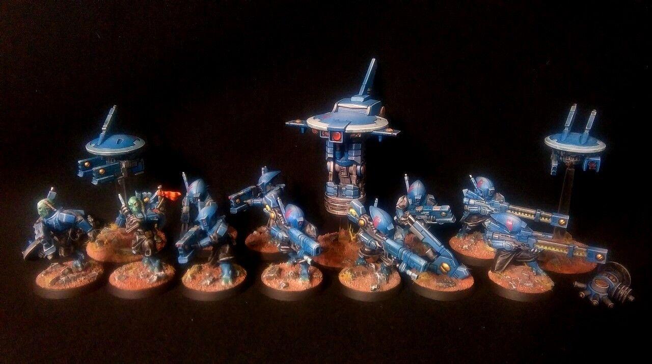 Pro-Painted Tau Empire  Pathfinder Squad tuer équipe Commission Modèles 13  vente directe d'usine