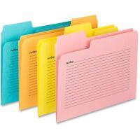 Smead Notes File Folders 11pt 1/3cut 9-1/2x11/5/8 12/pk Ast 11650 on sale