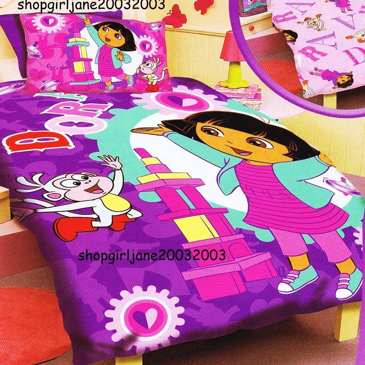 Dora the Explorer - Let's Play - Double US Full Bed Quilt Doona Duvet Cover Set