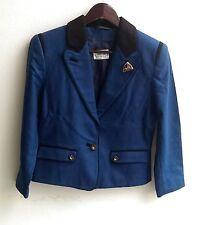 Damen Trachten Janker Jacke blau schwarz Gr. 34 v. M & G