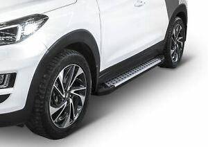 Pedane Laterale Sottoporta Alluminio per Hyundai Tucson 2015-2018 Advanced