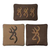 Browning Oak Tree Buckmark Deer Logo Pillowchoice Of 1 Or 3 Hunting Pillows Set