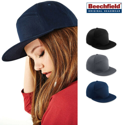 Retro H-Panel Baseball cap for Men and Women Beechfield Pitcher Snapback
