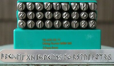 SupplyGuy 3mm 27 Stamp Viking Rune Metal Design Punch Set SGCH-Viking3mm