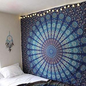 Indian Tapestry Wall Hanging Boho Polyester Decor Curtain Mandala Throw Sofa