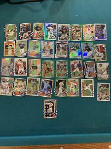 Lot of 2021 topps chrome and series 1+2. # cards, refractors, and parallels