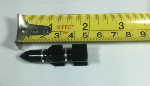 Small Rocket Dusctcap Black Aluminium Schrader Car Valve Dust Cap for Bicycles