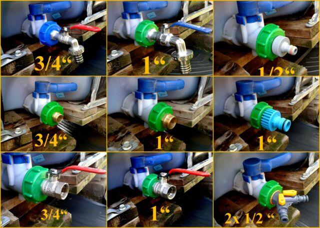 "IBC 1000l TANK CAP WITH ADAPTER- TAP, VALVE ... -STORAGE TANK CAP 2"" or 60 mm"