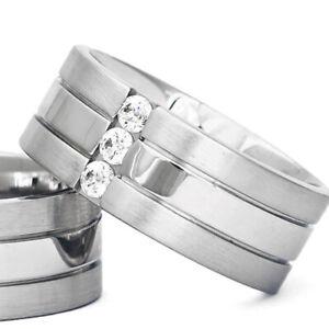 Silber-925-Trauringe-Eheringe-Verlobungsringe-mit-Gravur-und-Swarovski-Stein-B3