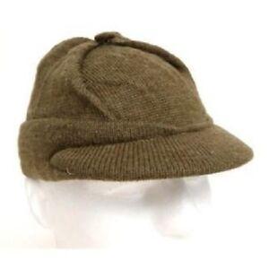 f9005871904 Jeep Hat Cap Knit Military Surplus Swiss Issue OD Fits Size 6 3 4 XS ...
