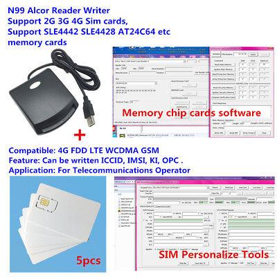 LTE WCDMA ICCID SIM USIM 4G secure card reader writer programmer with 5pcs  blank | eBay
