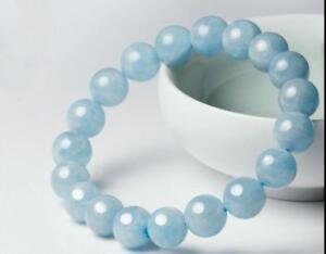 10mm-Natural-Blue-Aquamarine-Round-Gemstone-Beads-Stretchy-Bangle-Bracelet-7-5