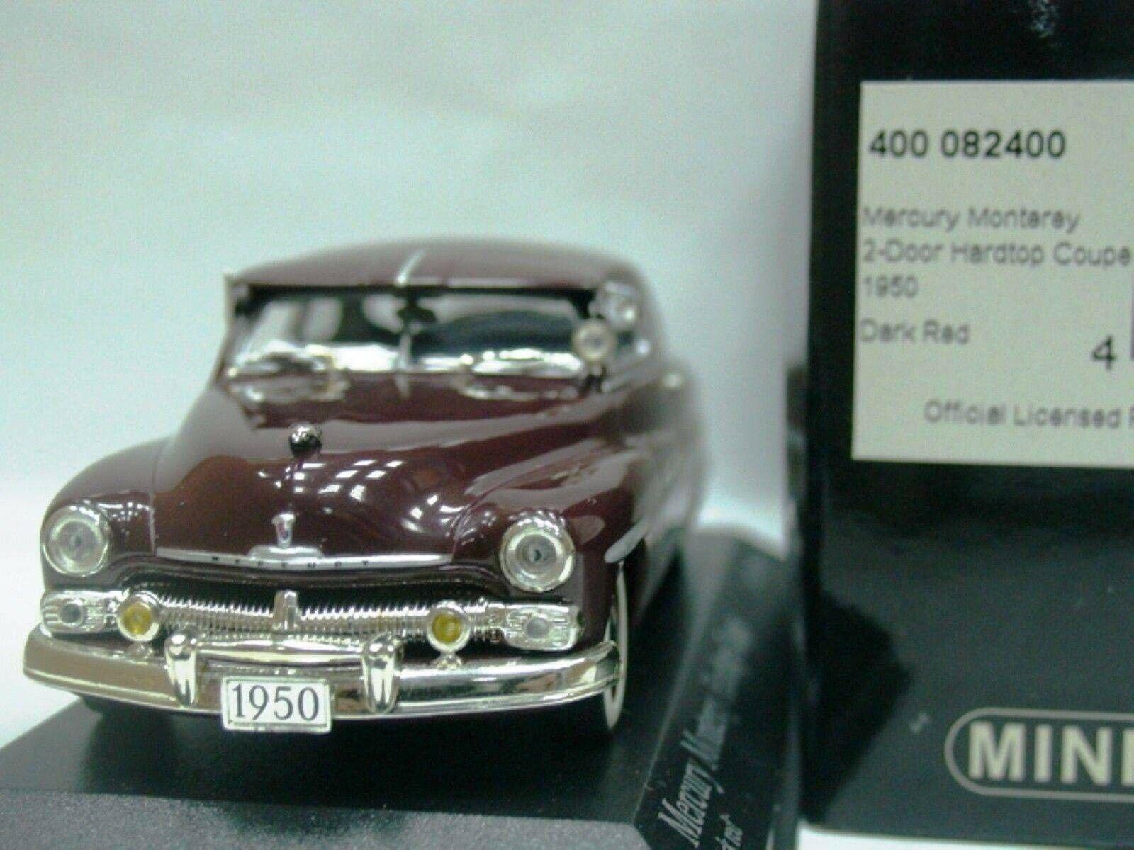 Wow extremadonnate raro Mercury Monterey Hardtop V8 Coupe 1950 R rosso 1 43 Minichamps