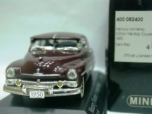 Details about WOW EXTREMELY RARE Mercury Monterey Hardtop V8 Coupe 1950 R  Red 1:43 Minichamps