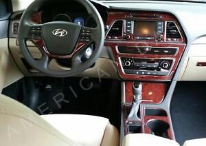 2015 2016 2017 Interior Wood Dash Trim Kit Set For Hyundai Sonata Gls Se Hybrid Ebay