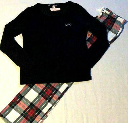 NEW Victoria Secret Flannel Lounge PJ Set Pajama Set M S XS pants Plaid Fox Star