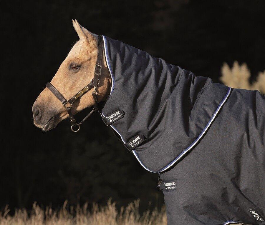Horseware Amigo Bravo 1200d participación Capucha Cuello Cubierta pesado 250g Azul Marino Negro XXS-XL