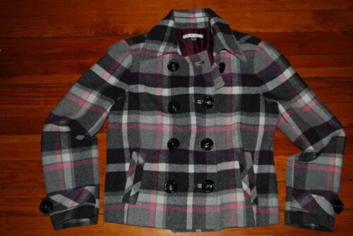 à laine Manteau en cabi pour mélangée 8 carreaux femmestaille fv7b6Ygy