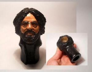 JERRY-GARCIA-HANDMADE-CERAMIC-SMOKING-PIPE-GRATEFUL-DEAD