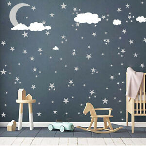 Wall Sticker Wall Decals Clouds Moon And Stars Wall Decal Kids Baby Room Decor Ebay