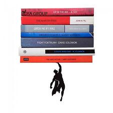 "Artori Design ""Supershelf"" - Black Metal Superhero Floating Book Shelf, Unique"