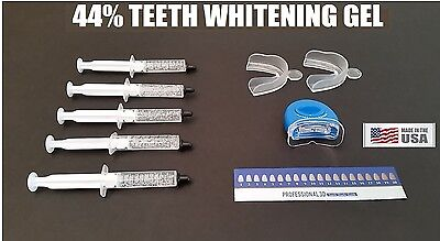 Teeth Whitening 44 Carbamide Peroxide 5 Syringe Kit Mouth