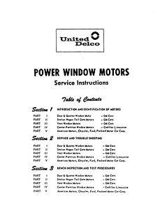 gm power window service manual 1954 1965 chevy pontiac buickimage is loading gm power window service manual 1954 1965 chevy