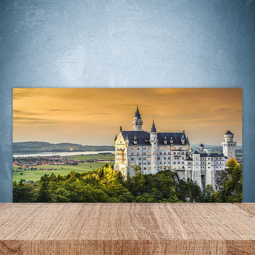 Crédence de cuisine en verre Panneau Paroi 100x50 Paysage Chateau