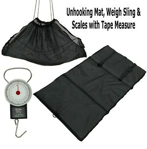 Carp-amp-Commercial-Fishery-Unhooking-Mat-Scales-with-Tape-Measure-amp-Weigh-Sling