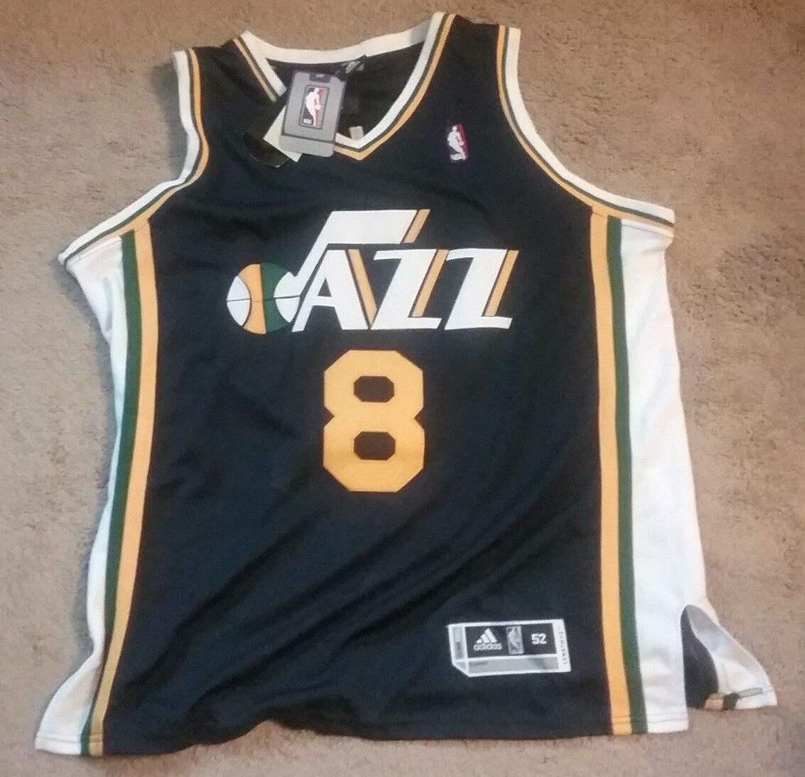 NWT Utah Jazz Williams Jersey - All Stitched - Men's Size 52