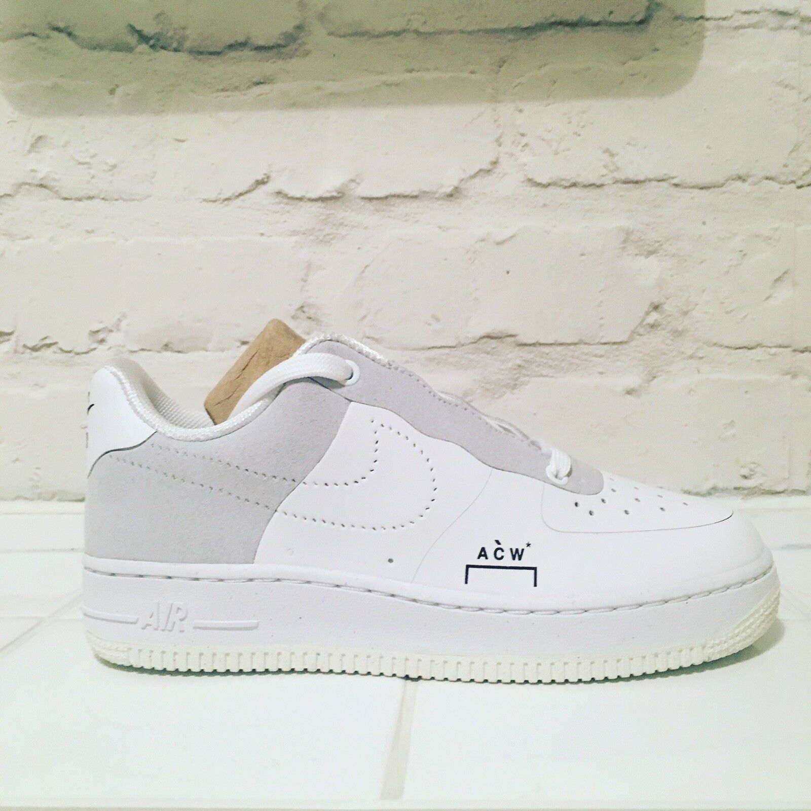 Nike Air Force 1 x A Cold Wall (ACW) - White (UK4)