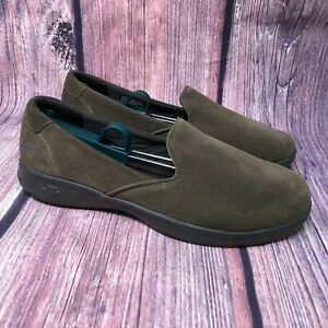 Brown Suede Slip-On Sneaker Shoes Sz 10