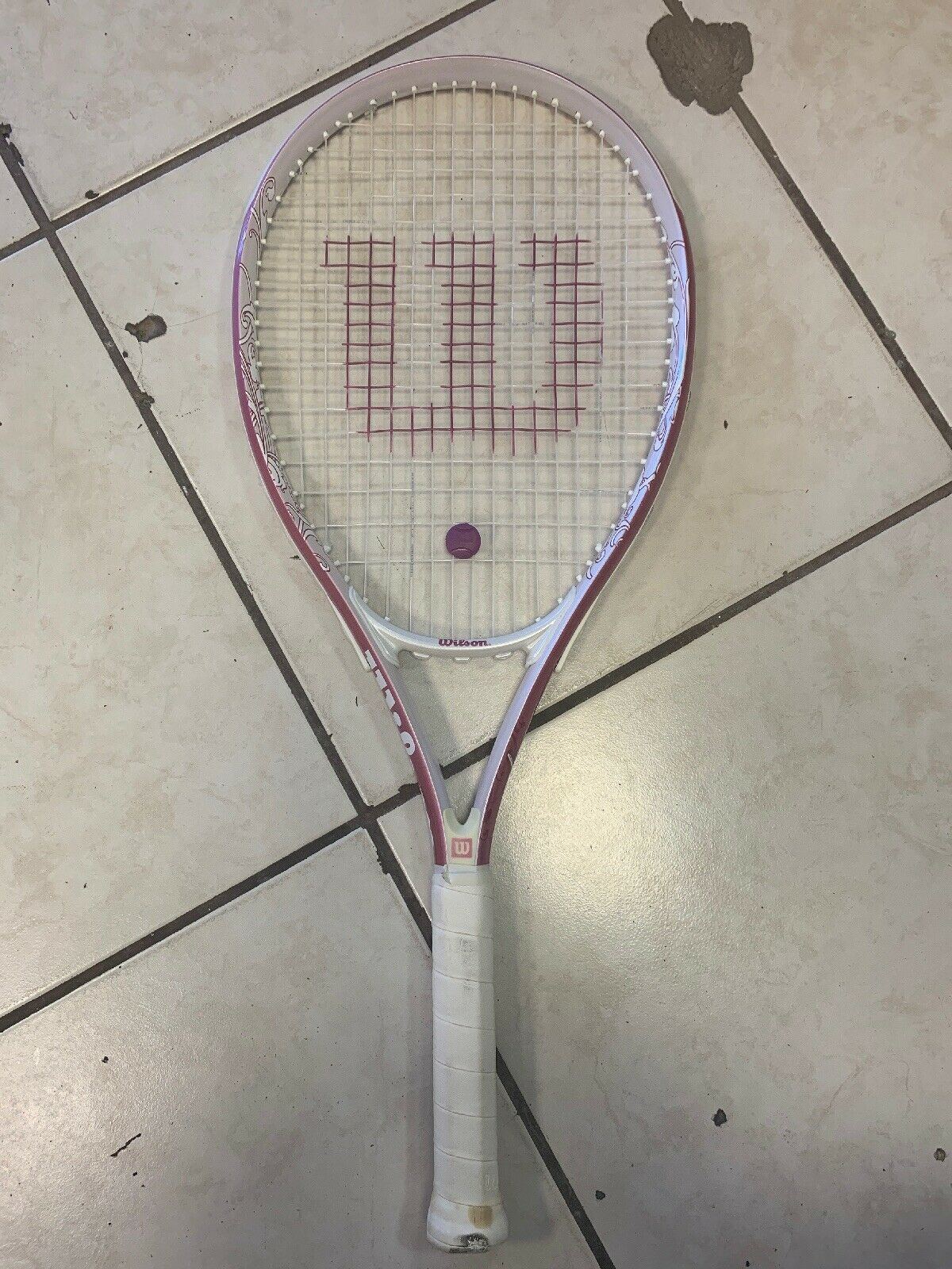 "Wilson Hope Pink Tennis Racquet 4 1 4"" L2 Cure Breast Cancer"
