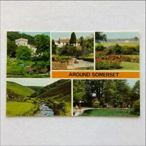 Around-Somerset-Selworthy-Compton-Martin-Boone-Valley-Postcard-P386