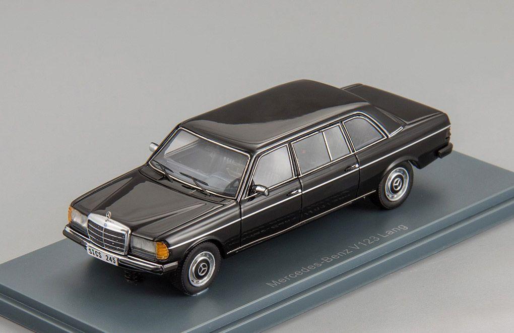 Mercedes-Benz V123 Lang Noir 1978 - 1984 1 43 Neo 44245