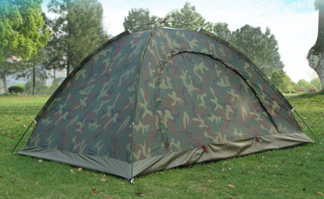 Camo Outdoor Camping Waterproof 2 Person 4 Season Folding Tent Camouflage /